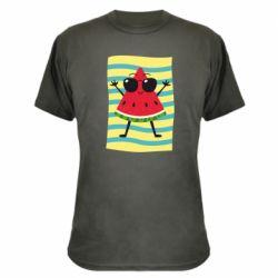 Камуфляжная футболка Арбуз на пляже