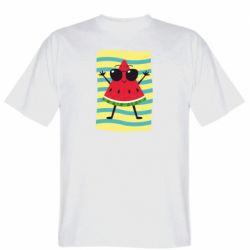 Мужская футболка Арбуз на пляже