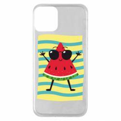 Чехол для iPhone 11 Арбуз на пляже