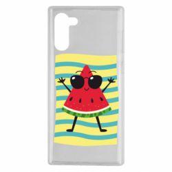 Чехол для Samsung Note 10 Арбуз на пляже
