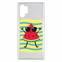 Чехол для Samsung Note 10 Plus Арбуз на пляже