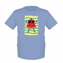 Детская футболка Арбуз на пляже
