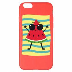 Чехол для iPhone 6 Plus/6S Plus Арбуз на пляже