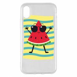 Чехол для iPhone X/Xs Арбуз на пляже