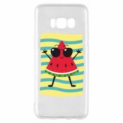 Чехол для Samsung S8 Арбуз на пляже