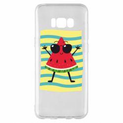 Чехол для Samsung S8+ Арбуз на пляже