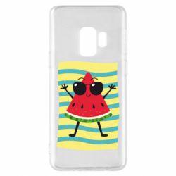 Чехол для Samsung S9 Арбуз на пляже