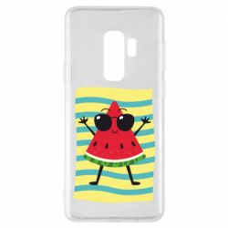 Чехол для Samsung S9+ Арбуз на пляже