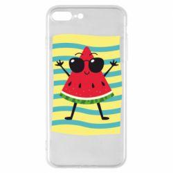 Чехол для iPhone 8 Plus Арбуз на пляже