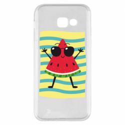Чехол для Samsung A5 2017 Арбуз на пляже