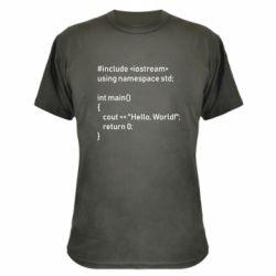 Камуфляжна футболка Arduino code
