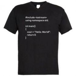 Чоловіча футболка з V-подібним вирізом Arduino code