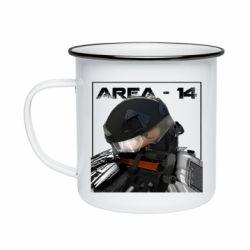 Кружка эмалированная Area-14