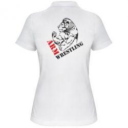 Женская футболка поло Arm Wrestling