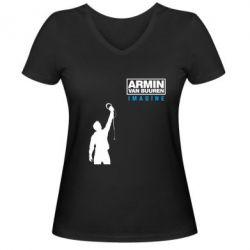 Женская футболка с V-образным вырезом Armin Imagine - FatLine