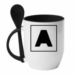 Кружка з керамічною ложкою Armin van Buuren 1