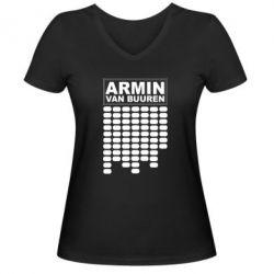 Женская футболка с V-образным вырезом Armin Van Buuren Trance - FatLine