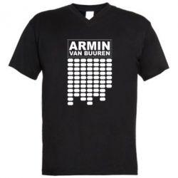 Мужская футболка  с V-образным вырезом Armin Van Buuren Trance - FatLine