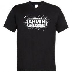 Мужская футболка  с V-образным вырезом Armin Van Buuren