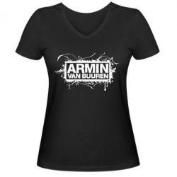 Женская футболка с V-образным вырезом Armin Van Buuren - FatLine
