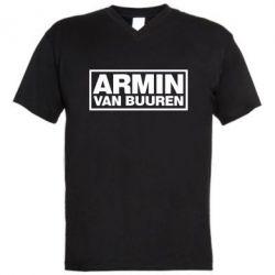 Мужская футболка  с V-образным вырезом Armin - FatLine