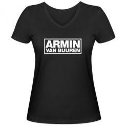 Женская футболка с V-образным вырезом Armin - FatLine