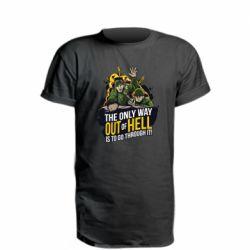 Удлиненная футболка Армия
