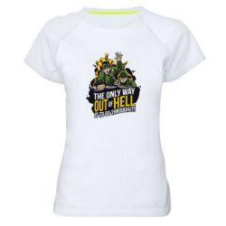 Женская спортивная футболка Армия