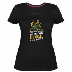 Женская стрейчевая футболка Армия