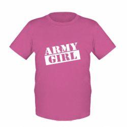 Детская футболка Army girl
