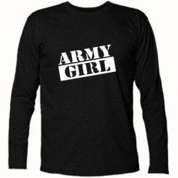 Футболка с длинным рукавом Army girl