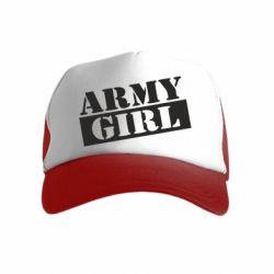 Дитяча кепка-тракер Army girl