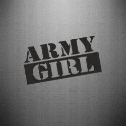 Наклейка Army girl