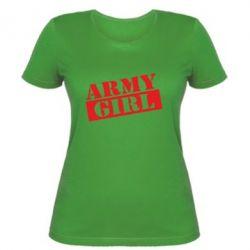 Женская футболка Army girl