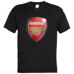 Мужская футболка  с V-образным вырезом Arsenal 3D - FatLine