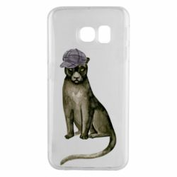 Чохол для Samsung S6 EDGE Panther in a hat