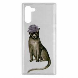 Чохол для Samsung Note 10 Panther in a hat
