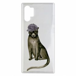 Чохол для Samsung Note 10 Plus Panther in a hat