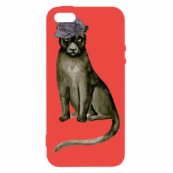 Чохол для iphone 5/5S/SE Panther in a hat