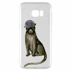 Чохол для Samsung S7 EDGE Panther in a hat
