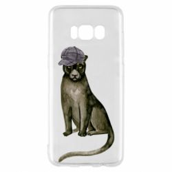 Чохол для Samsung S8 Panther in a hat