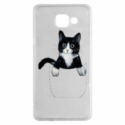 Чехол для Samsung A5 2016 Art cat in your pocket