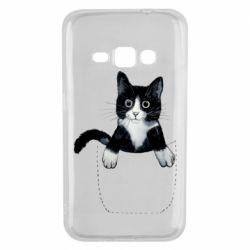 Чехол для Samsung J1 2016 Art cat in your pocket
