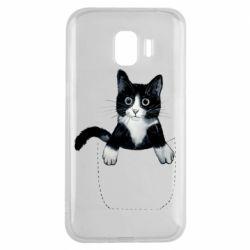 Чехол для Samsung J2 2018 Art cat in your pocket