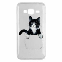 Чехол для Samsung J3 2016 Art cat in your pocket
