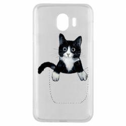 Чехол для Samsung J4 Art cat in your pocket