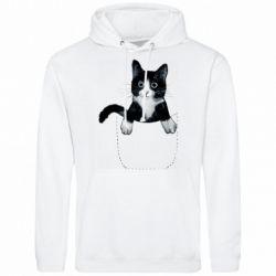 Мужская толстовка Art cat in your pocket