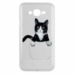 Чехол для Samsung J7 2015 Art cat in your pocket