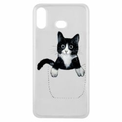 Чехол для Samsung A6s Art cat in your pocket
