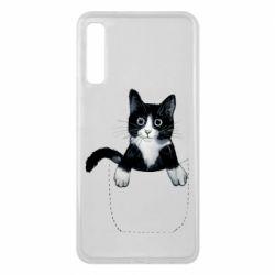 Чехол для Samsung A7 2018 Art cat in your pocket